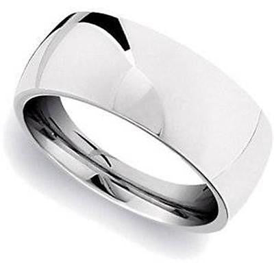 MRT Simple Large Modern Mans Stainless Steel Mens Ring Jewelry Gift Boxed