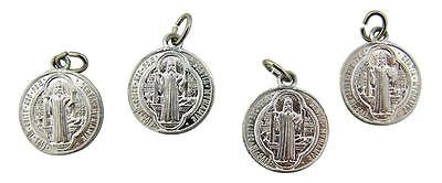 MRT Lot Of 4 St Benedict Two Sided Medal Exorcism Saint Protection Aluminum 3/4""
