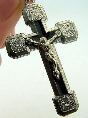 Stations Of The Cross Black Silver P Crucifix Cross