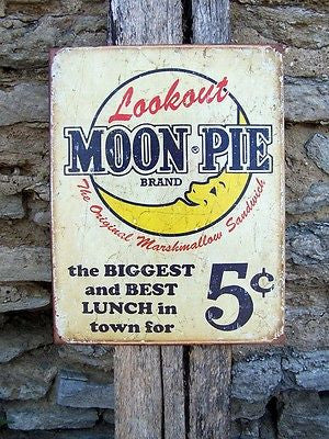 Antique Style Moon Pies Metal Sign Retro Ad Kitchen Cafe Wall Hanging Gift USA