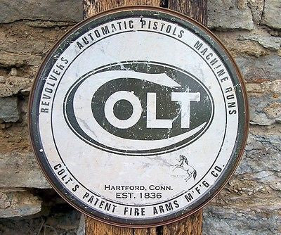 Vintage Style Colt Gun Firearms Sign Ad Retro Basement Garage Wall Decor Gift US