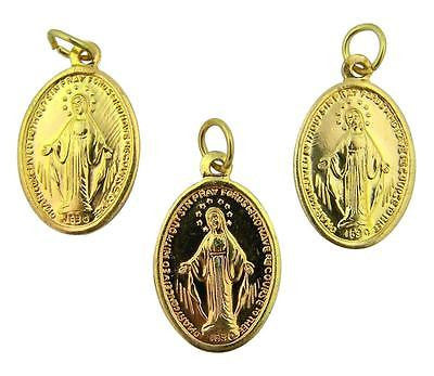 MRT Miraculous Medal Lot Of 3 Blessed Virgin Mary Pendant Embossed Aluminum 1""