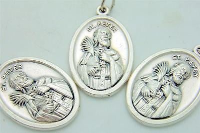 3 lot of silver plate st peter pendant medal catholic patron saint 3 lot of silver plate st peter pendant medal catholic patron saint gift 34 aloadofball Images