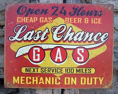 Retro Sign Ad Antique Style Basement Garage Picture Gas Pump Station Gift USA