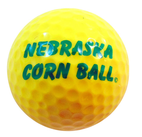 Nebraska Corn Ball Novelty Golf Ball Golfing Gag Gift