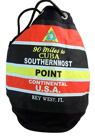 Southernmost Point canvas Backpack Beach Bag Florida Keys Souvenier