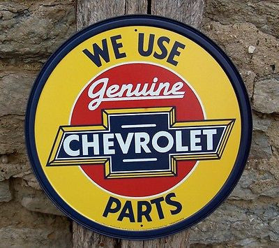 Antique Style Use Chevy Chevrolet Car Parts Metal Sign Ad Retro Decor USA 11""