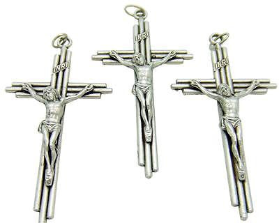 MRT Lot Of 3 Crucifix Catholic Unique Post Design Holy Cross Italian Made 2""