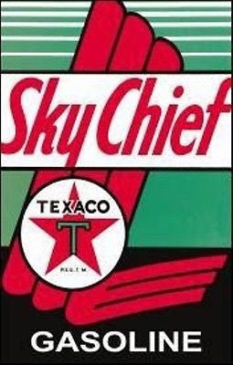 Texaco Sky Chief Tin Sign Retro Garage Picture Gas Petrol Pump Station Gift USA