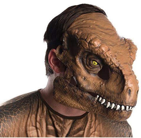 Rubie's Child's Tyrannosaurus Rex Movable Jaw Adult Mask Official Jurassic World Fallen Kingdom Merchandise