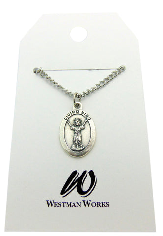 Divino Nino Jesus Divine Child Medal with Stainless Steel Chain