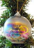 Have a Beachy Christmas Natural Sand Art Glass Ornament Beach Home Decoration