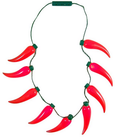 Chili Pepper Light Up Fiesta Party Necklace Accessory