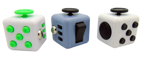 Fidget Cube Premium Toy Set of 3 Individually Boxed