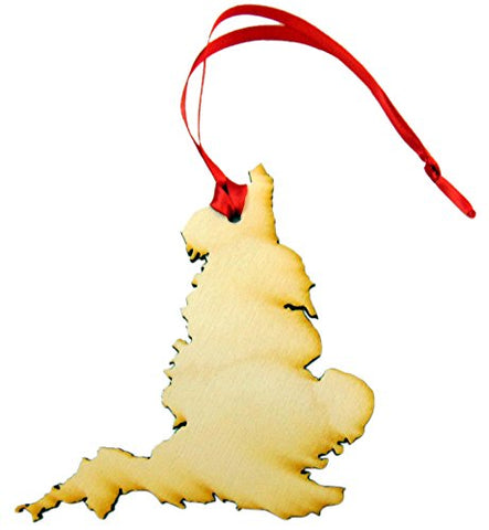 England Christmas Ornament Wooden Country Boxed Decoration Handmade in the USA