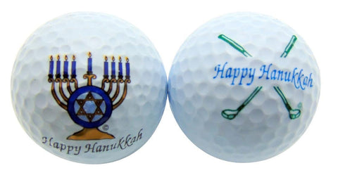 Hannukah Golf Ball Sets of 2 Holiday Balls
