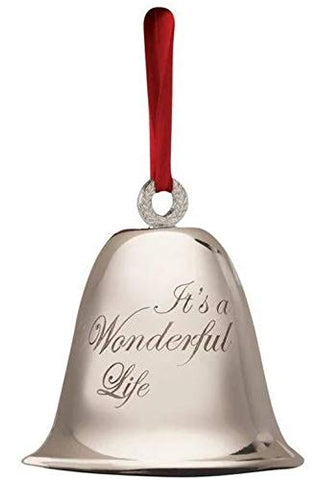 Its a Wonderful Life Bell Large Christmas Ornament Official Souvenir Keepsake from the Classic Movie