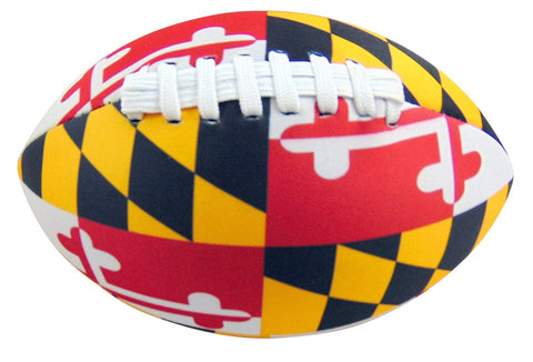 Maryland Flag Football Soft Neoprene Ball for Kids 8 Inches Long