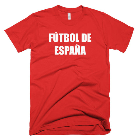 Spain Football Soccer Short Sleeve T-Shirt