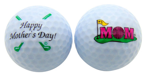 Mothers Day Golf Ball Gift Pack Set of 2 Different Balls for #1 Mom