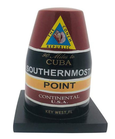 Southernmost Point Buoy Replica Statue Key West Florida Table Decoration, 4 inch