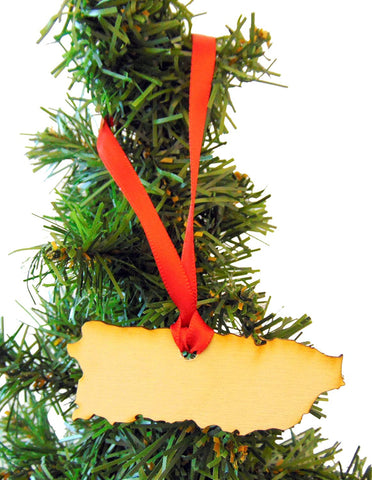 puerto rico wooden country christmas ornament boxed decoration handmade in the usa