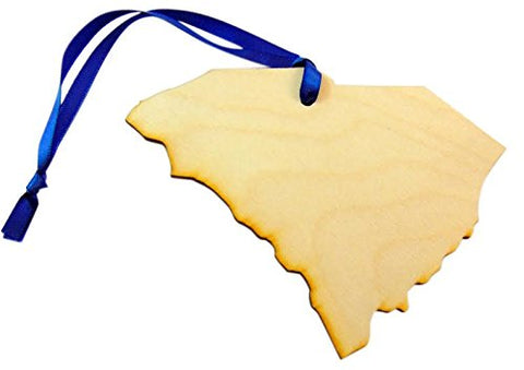South Carolina Wooden Christmas Ornament Wood State Boxed Gift Handmade in the USA