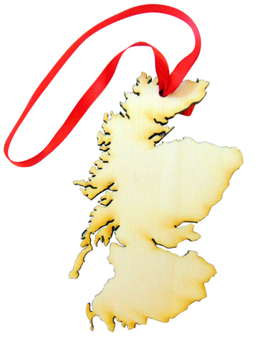 Scotland Wooden Christmas Ornament Boxed Wood Scottish Decoration Made in the USA