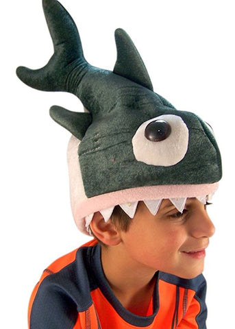 Shark Hat LED Flashing Light Up Childs Halloween Hat, One Size