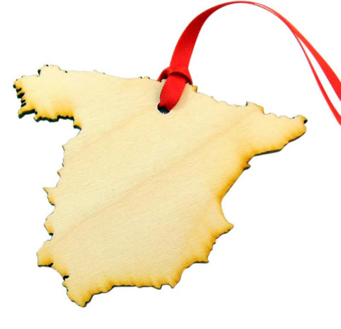 Spain Wooden Spanish Country Christmas Ornament Boxed Gift Handmade in the U.S.A.