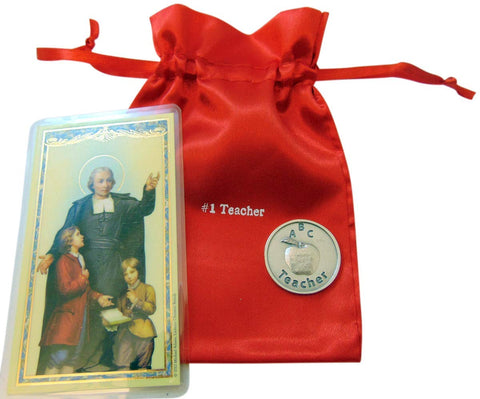 Westman Works Teacher Gift Set with Prayer Token Holy Prayer Card and #1 Bag