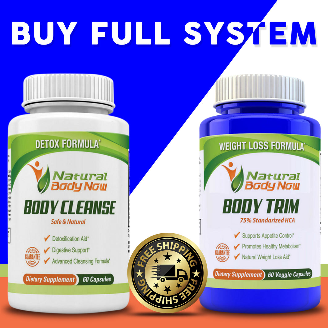 FULL SYSTEM BODY CLEANSE AND BODY TRIM (All Natural)- Free Shipping