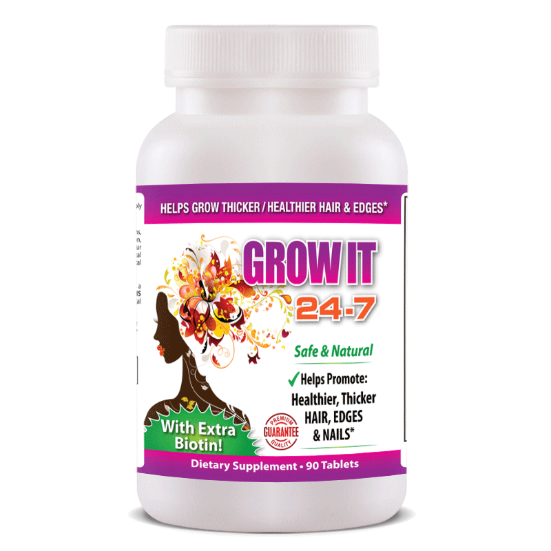 Grow It 24-7 Thicker Healthier (Hair, Edges & Nails) - FREE SHIPPING