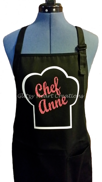 Personalized Apron - Chef Design with Hat