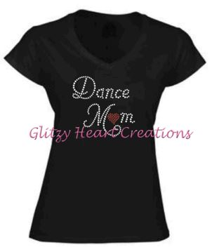Dance Mom Rhinestone Design T-Shirt