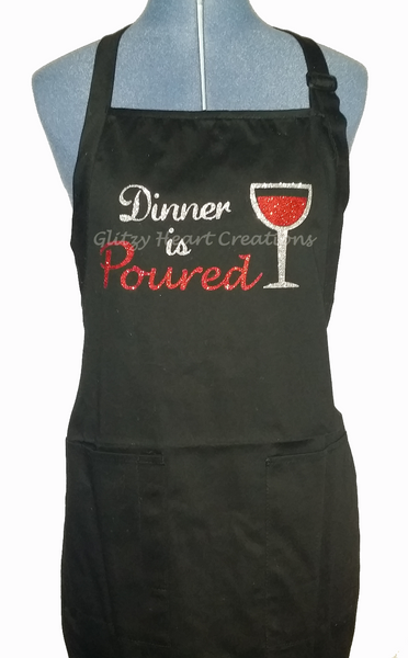 Apron - Dinner is Poured Design