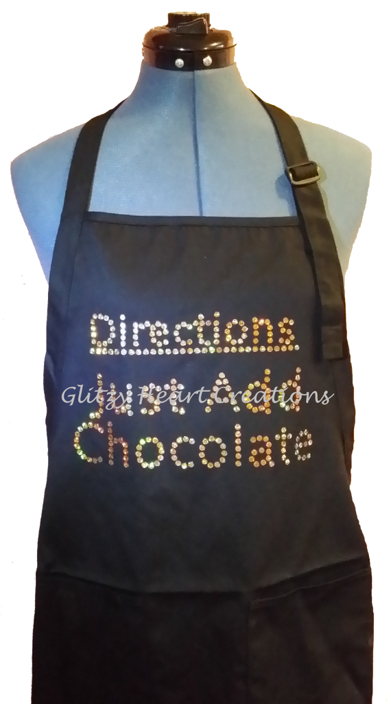 Apron - Directions Just Add Chocolate Design
