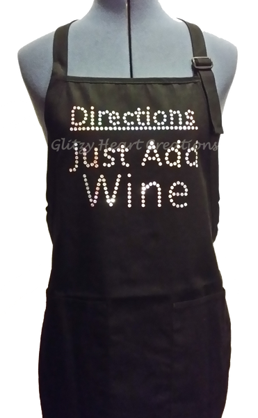 Apron - Directions Just Add Wine Design