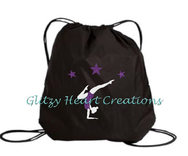 Gymnastics Balance Design on a Cinch Bag