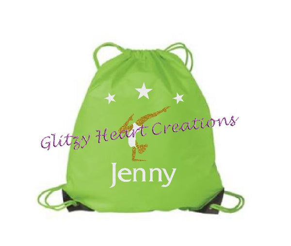 Gymnastics Balance Design Personalized Cinch Bag