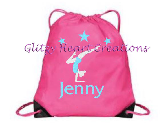 Personalized Gymnastics Balance Design Cinch Bag
