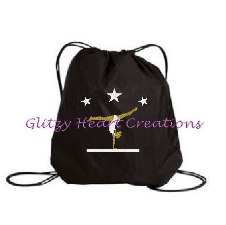 Gymnastics Balance Beam Design - Cinch Bag
