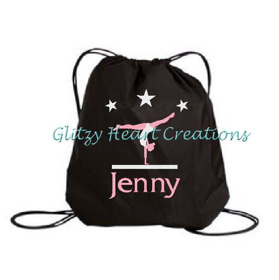 Personalized Gymnastics Balance Beam Design Cinch Bag