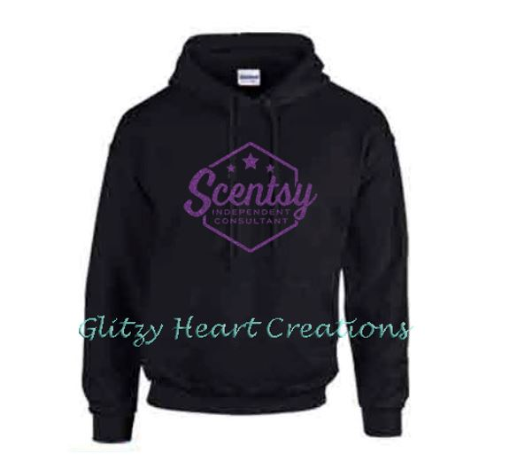 Authorized Scentsy Vendor - Pullover Hoodie with Scentsy Hexagon Logo - Black Hoodie