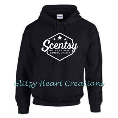Pullover Hoodie with Scentsy Hexagon Logo - Black Hoodie