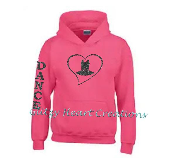Dance Hoodie with Dance Costume in Heart Design
