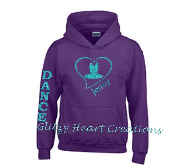 Dance Hoodie with Dance Costume in Heart Design - Personalized