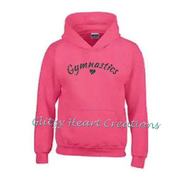 Gymnastics Hoodie with Gymnastics and Heart Design