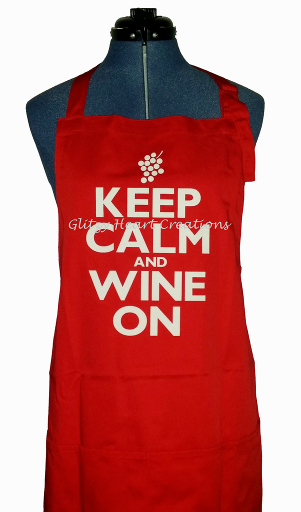 Apron - Keep Calm and Wine On Design