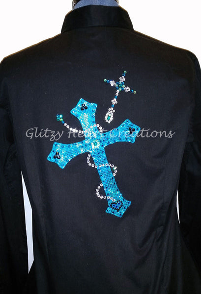 Cross with Rhinestone Cross Shirt
